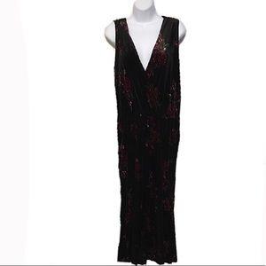 🆕 🆕 Xhilaration Floral Black Slinky Dress, XXL